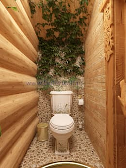 country Bathroom by Дизайн студия 'Дизайнер интерьера № 1'