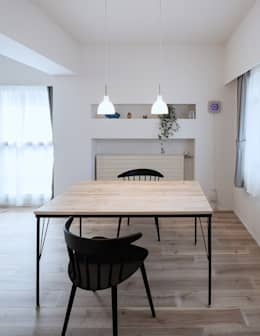 scandinavian Dining room by 一色玲児 建築設計事務所 / ISSHIKI REIJI ARCHITECTS