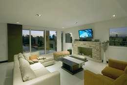 Casa M: Livings de estilo moderno por Estudio PM