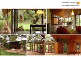 Projekty, wiejskie Domy zaprojektowane przez Paschetta&Cavallero Arquitectos
