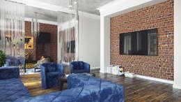 Лофт для холостяка: Гостиная в . Автор – Архитектурное бюро Киры Шелмановой