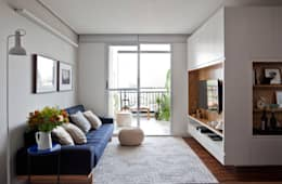 scandinavian Living room by INÁ Arquitetura
