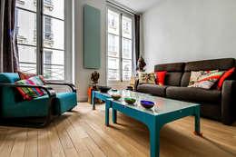 Projekty,  Salon zaprojektowane przez ATELIER FB