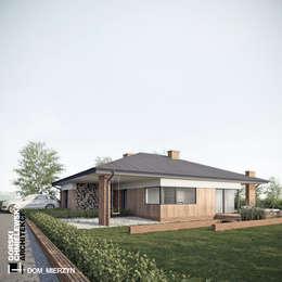 DOM MIERZYN: styl nowoczesne, w kategorii Domy zaprojektowany przez GÓRSKI CHMIELEWSKA ARCHITEKCI