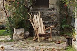 Fauteuil vieux châtaignier...: Art de style  par O Création Bois