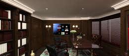 Kerim Çarmıklı İç Mimarlık – A.G. Evi: klasik tarz tarz Çalışma Odası