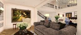 Kerim Çarmıklı İç Mimarlık – A.G. Evi: klasik tarz tarz Oturma Odası