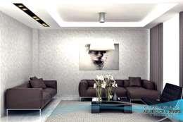 EN+SA MİMARİ TASARIM DEKORASYON MOB.İNŞ.SAN. VE TİC .LTD. ŞTİ – 3d görsel hazırlama: modern tarz Oturma Odası
