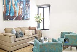 Salas / recibidores de estilo  por PORTO Arquitectura + Diseño de Interiores