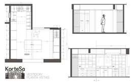 Walk in closet de estilo  por KorteSa arquitectura