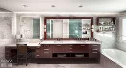 Baño ampliado: Baños de estilo ecléctico por KorteSa arquitectura