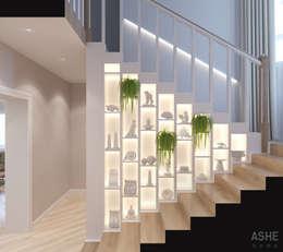 Couloir et hall d'entrée de style  par Студия авторского дизайна ASHE Home