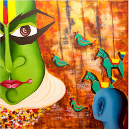 Me and the Mask :  Artwork by Indian Art Ideas