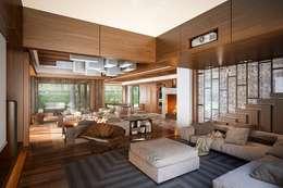 Projekty,  Salon zaprojektowane przez Design studio of Stanislav Orekhov. ARCHITECTURE / INTERIOR DESIGN / VISUALIZATION.