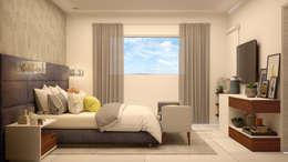 Dormitorios de estilo moderno por CONTRASTE INTERIOR