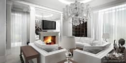 colonial Living room by ArtCore Design