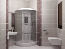 КВАРТИРА МОЛОДОГО И НЕ ЖЕНАТОГО.: Ванные комнаты в . Автор – АЛЕКСАНДР ЕЛАШИН. СТУДИЯ ДИЗАЙНА ЭЛИТНЫХ ИНТЕРЬЕРОВ.