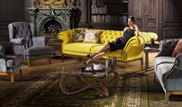 YILDIZ MOBİLYA – Hasır Chester Koltuk Takımı: modern tarz Oturma Odası