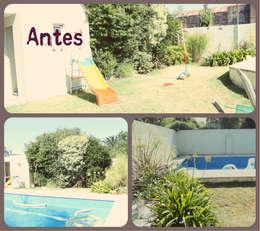 Jardin familiar: Jardines de estilo moderno por LAS MARIAS casa & jardin