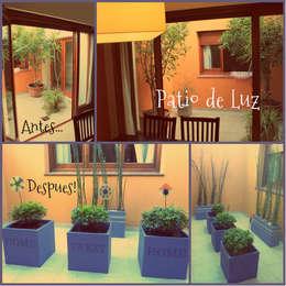 Jardin familiar: Jardines de invierno de estilo moderno por LAS MARIAS casa & jardin