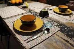 zastawa stołowa: styl , w kategorii Jadalnia zaprojektowany przez projektowanie wnętrz