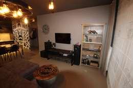 modern Media room by projektowanie wnętrz