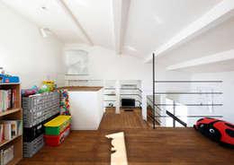 松虫の長屋〈renovation〉-5段の距離がいい-: atelier mが手掛けた子供部屋です。