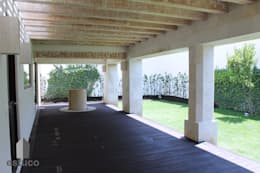 Jardins modernos por estuco construcciones y diseño