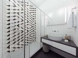 Скандинавский стиль: Ванные комнаты в . Автор – BURO'82
