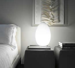 LAMPE À POSER, UOVO, BLANC, H28CM - FONTANA ARTE: Chambre de style de style Moderne par NEDGIS