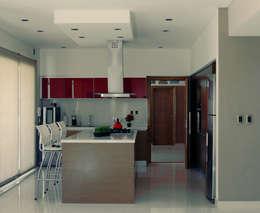 GRECO II HOUSE: Cocinas de estilo moderno por Carbone Fernandez Arquitectos