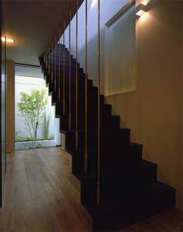Projekty,  Korytarz, przedpokój zaprojektowane przez Architect Show co.,Ltd