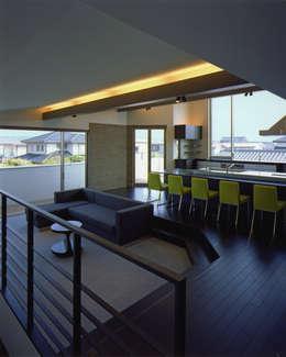 Projekty,  Salon zaprojektowane przez Architect Show co.,Ltd