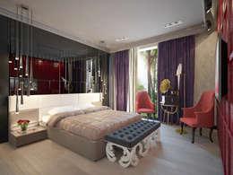 Трехкомнатная квартира в Москве: Спальни в . Автор – Decor&Design