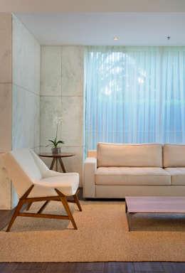 modern Living room by Carolina Mendonça Projetos de Arquitetura e Interiores LTDA