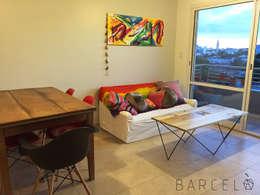 Mesa Ratona BARCELONETA: Livings de estilo industrial por Barcelò. diseño en hierro