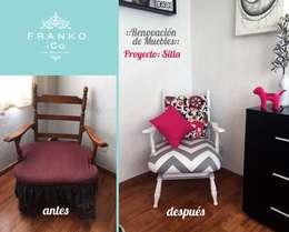 Mecedora vintage: Recámaras de estilo moderno por Franko & Co.