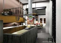 Reforma de vivienda antigua ¨GARDELLA¨: Cocinas de estilo ecléctico por ARQ. María Florencia Fernández