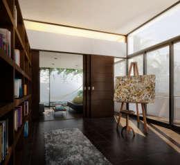 Couloir, Entrée & Escaliers de style de style Minimaliste par TAQ arquitectura