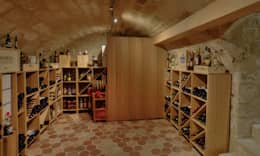 modern Wine cellar by LUSIARTE