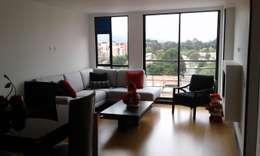 APTO. CEDRITOS - BOGOTA - 2015: Salas de estilo moderno por MS - CONSTRUCCIONES MARIO SOTO & Cìa S.A.S.