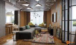 Livings de estilo industrial por Art-i-Chok