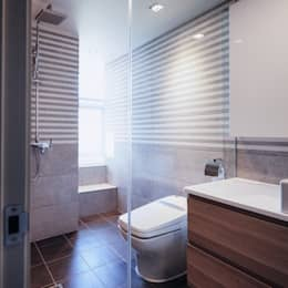 분당구 수내동 아파트 (before& after) : 샐러드보울 디자인 스튜디오의  화장실