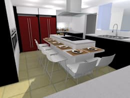 Cocinas de estilo moderno por ARCE MOBILIARIO