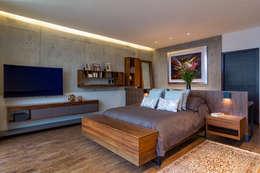 Habitaciones de estilo moderno por BURO ARQUITECTURA