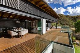 CASA RR: Terrazas de estilo  por BURO ARQUITECTURA