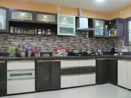 Mr.M Residential Flat: country Kitchen by DESIGNER GALAXY