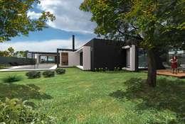 Projekty, eklektyczne Domy zaprojektowane przez Bonomo&Crespo Arquitectura