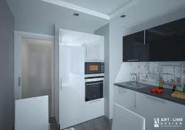 Трехкомнатная квартира Москва. Южное Бутово: Кухня в . Автор – Арт-лайн дизайн