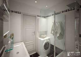 Трехкомнатная квартира Москва. Южное Бутово: Ванная комната в . Автор – Арт-лайн дизайн
